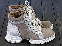 Бежевые женские ботинки на шнуровке Lonza FLM80683 BROWN размер 36 23 см, фото 1