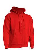 Мужской реглан (толстовка) с капюшоном JHK SWUA HOOD, цвет красный (RD)