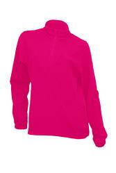 Женский флисовый пуловер с короткой застежкой-молнией JHK MICRO FLEECE LADY, цвет малиновый (RP)
