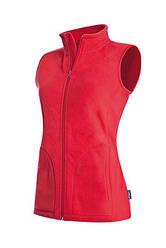 Женский флисовый жилет Stedman ST5110 Active Fleece Vest, цвет красный (SRE)