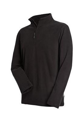 Мужской флисовый пуловер с застежкой-молнией до средины Stedman ST5020 Active Fleece Half Zip, цвет черный (BLO)