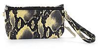 Прочная вместительная кожаная женская косметичка art. (102762) разноцветная под рептилию, фото 1