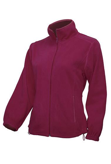 Женская флисовая куртка JHK POLAR FLEECE LADY цвет бордовый (BU)