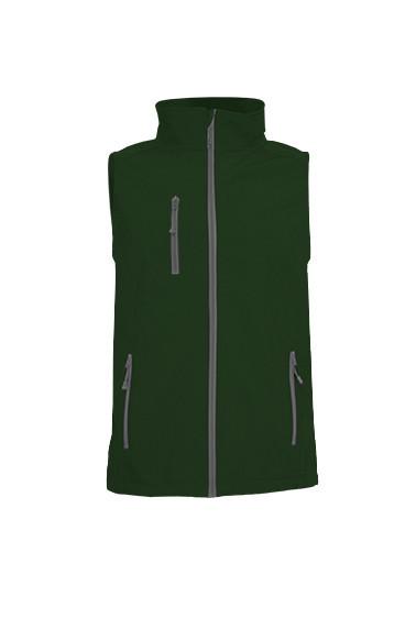 Мужская куртка JHK SOFTSHELL VEST, цвет темно зеленый (BG)