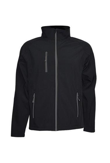 Мужская куртка JHK SOFTSHELL JACKET, цвет черный (BK)