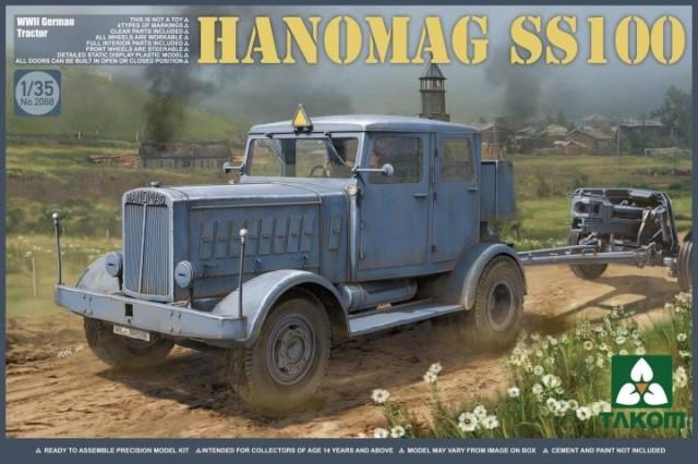 Hanomag SS100 германский тягач. 1/35 TAKOM 2068