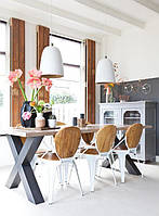 Стол Loft L-37, 2200*1000, массив ясеня или дуба, мебель лофт