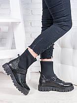 Ботинки кожаные + стрейч Мартинс 6846-28, фото 2