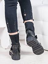 Ботинки кожаные + стрейч Мартинс 6846-28, фото 3