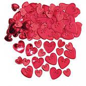 Конфетти сердца с вензелем красные 14 1501-0209
