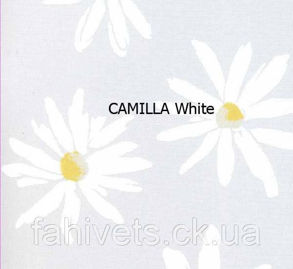 Рулонні штори відкритого типу  CAMILLA (м.кв.)  Белая