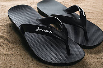 Шлепанцы Rider 81666-20050 (лето, мужские, резина, черный)