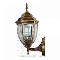 Настенный садово-парковый светильник бра античное золото прозрачное стекло Lemanso PL5101