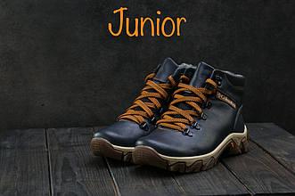 Ботинки Twics К2 (Columbia) (зима, подростковые, натуральная кожа, синий)