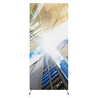 Рекламный стенд, X-баннер паук, 0.85 х 1.90 м, серый (CXB-C)