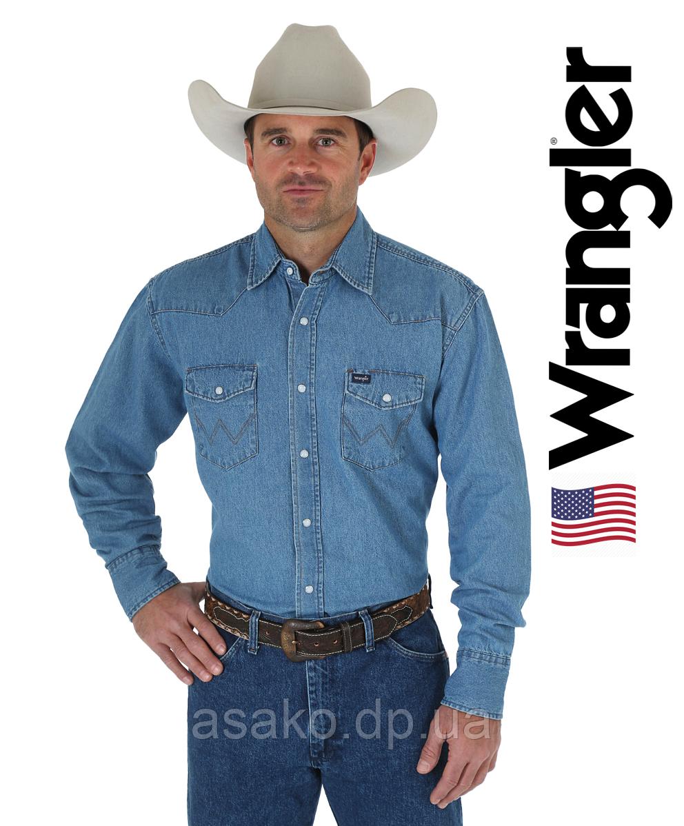 31e17267f2a96c9 Мужская джинсовая рубашка Wrangler®(США)/100% хлопок /Оригинал из США