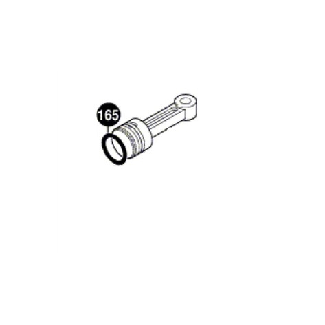 Ущільнювальне кільце 25,0x4,0мм до відбійних молотків GSH BOSCH (оригінал), фото 2