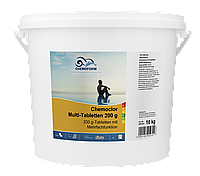 Средство для дезинфекции воды бассейна Хлор-мультитаб - 200, Chemoform,10 кг