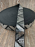 Резинка Декоративная 50 ярд ширина 4 см