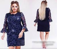 Сукня з вишивкою з пайєтками, з 50-64 розмір, фото 1