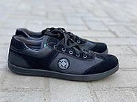 Кеды мужские черные сетка на шнурках Paolla, фото 1