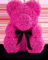Самый романтический подарок для девушки мишка из 3D роз 28 см.