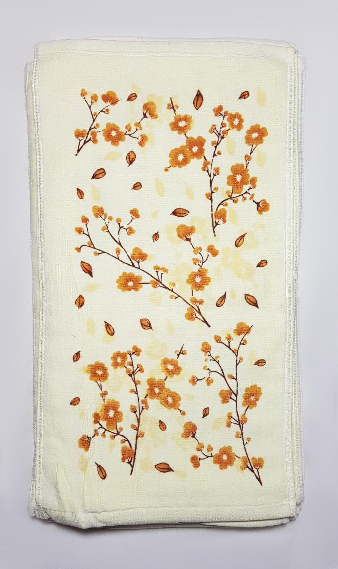 """Полотенце для рук и кухни """"Сакура""""  27*50, цвет: желтый"""