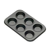 KC NS Формы для выпечки мини кексов 6 отверстий с антипригарным покрытием 15см х 10см 2 единицы