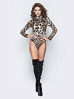 Стильный молодежный женский боди с тигровым принтом р.42-46 45f0773dfdb06