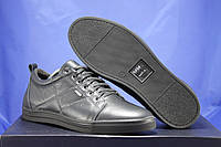 Мужские кожаные мокасины на шнурках больших размеров:46,47,48