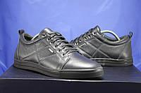 Мужские кожаные мокасины,туфли на шнурках синие