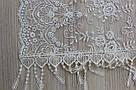 Свадебный церковный ажурный шарф (белый), фото 2