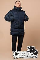 Мужская стильная куртка большого размера 37762, темно-синяя