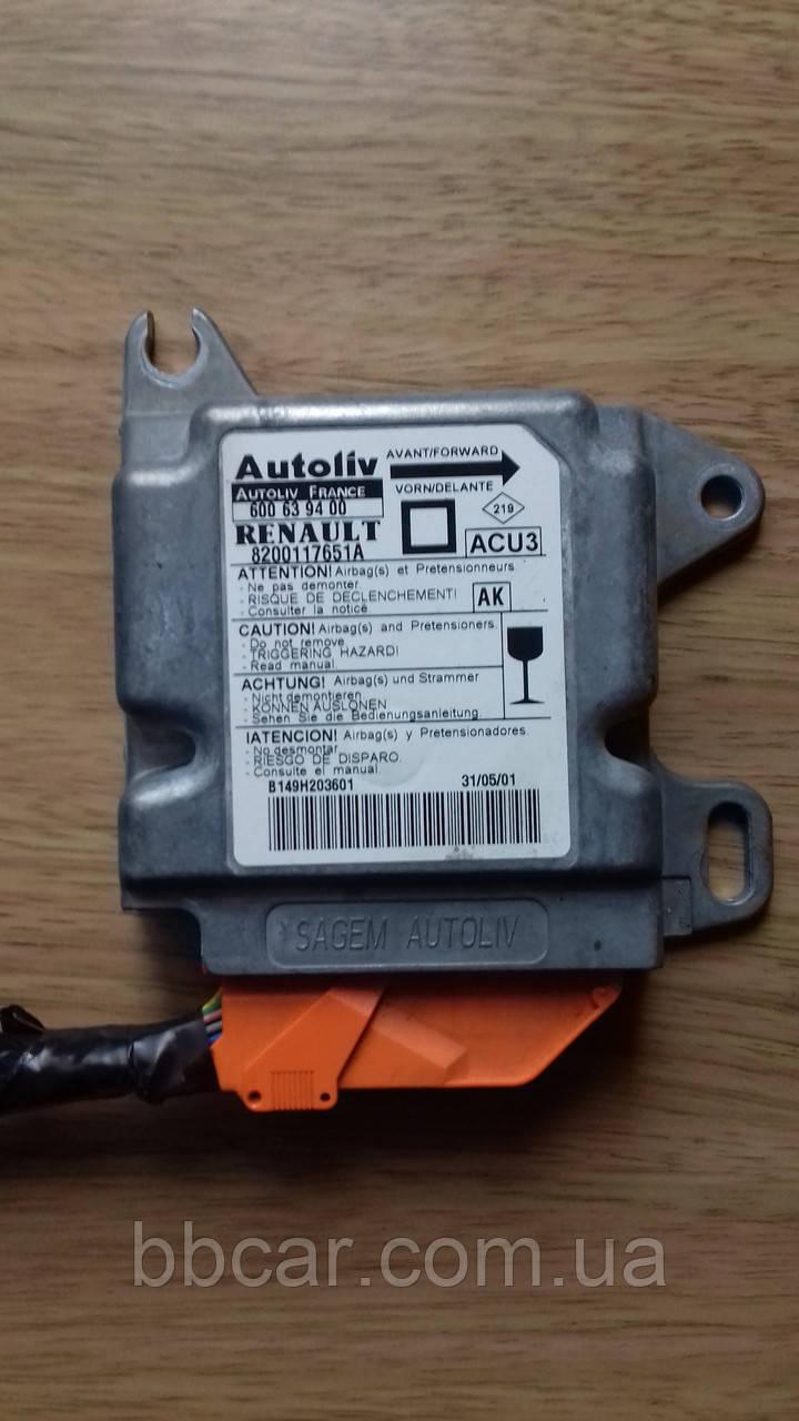 Блок управления подушкой безопасности AIRBAG  Renault Megane 1.9 cdi  Autoliv France 600 63 9400 (