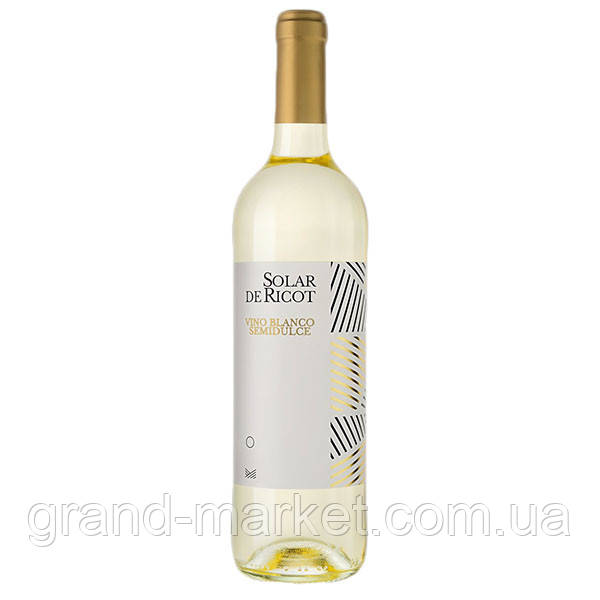 """Вино біле """"Solar de Ricot Semidulce"""" 0.75 l"""