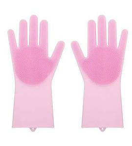Силиконовые многофункциональные перчатки для мытья и чистки Silicone Gloves