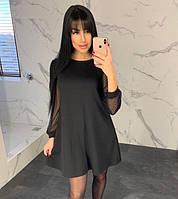 Свободное платье с красивыми рукавами