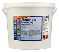 Средство для дезинфекции воды бассейна Хлор-мультитаб - 20, Chemoform,10 кг, фото 1