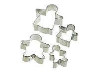 Let's Make Формочки для печенья Имбирная семья металлические 4 элемента