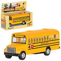 Машинка KS 5107 W інерц., мет., шкільний автобус, відчин. двері, кор., 14-11,5-5 см.