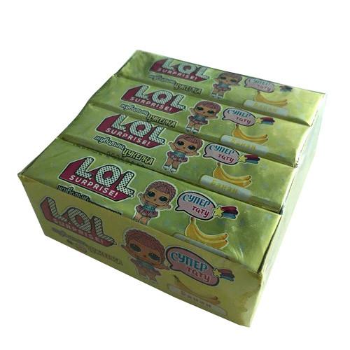 Жевательная конфета L.O.L. банан 5 подушек тату (VITALEND) 20 г/16 шт/24 в ящ