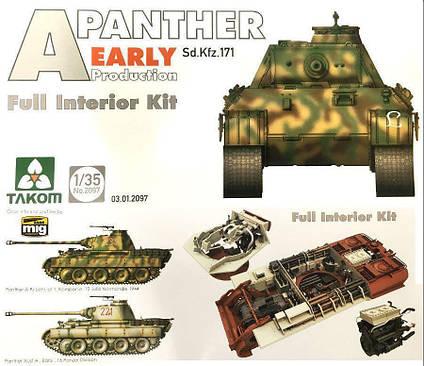 "Немецкий средний танк Sd.Kfz.171 ""Panther"", раннего производства с интерьером. 1/35 TAKOM 2097, фото 2"