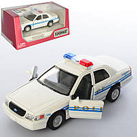 Машинка KT 5342 W мет., інерц., поліція, відчин. двері, гум. колеса, кор., 16-7,5-8 см.