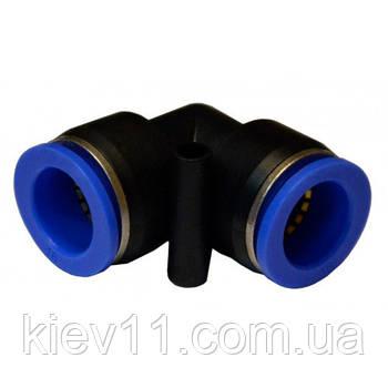 Соединение цанговое для полиуретановых шлангов PU/PR (Г-обр., шланг)  6мм AIRKRAFT SPV06