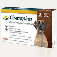 Симпарика таблетки со вкусом печени от паразитов для собак весом 40 - 60 кг. (1 таблетка) Zoetis™