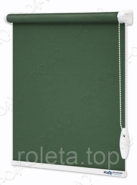 Рулонные шторы Камила Темно-зеленые