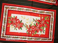 46016 Алое рождество. Ткань с новогодним рисунком. Декоративные ткани., фото 1