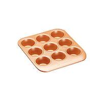 MC SC Форма для выпечки кексов с антипригарным покрытием 24x22x3,5см