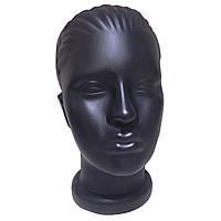 Манекен голова женская цвет чёрный без макияжа
