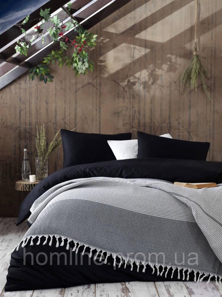 Плед-покрывало Eponj Home 200*230 Anna Elmas siyah черное